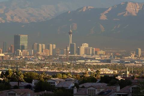 High temperatures are likely to reach 80 degrees in some parts of the Las Vegas Valley on Tuesd ...