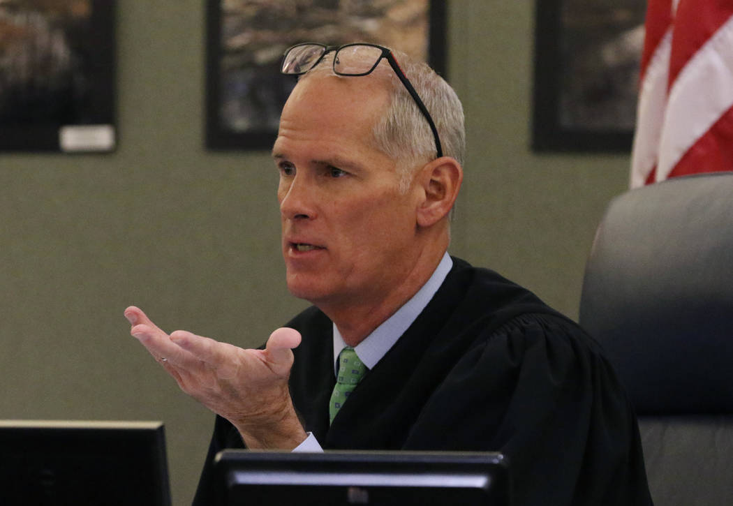 Judge Douglas Herndon presides over Christopher Prestipino's, charged with murder in the death ...