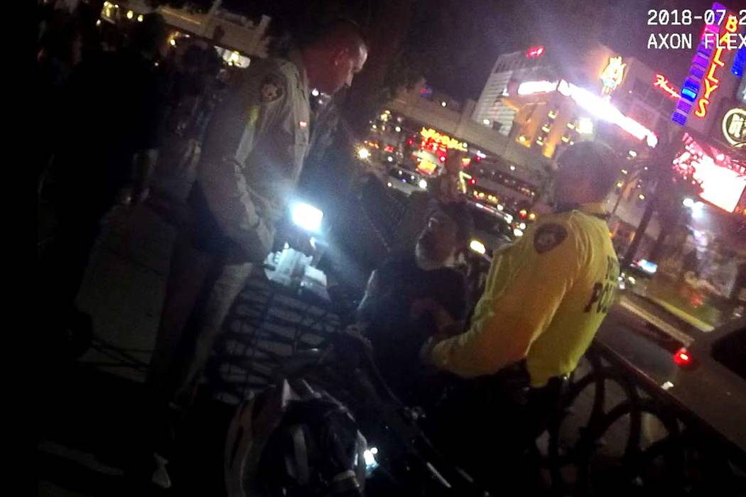 Body cam footage from July 29, 2018, shows Metropolitan Police Department officers speaking to ...