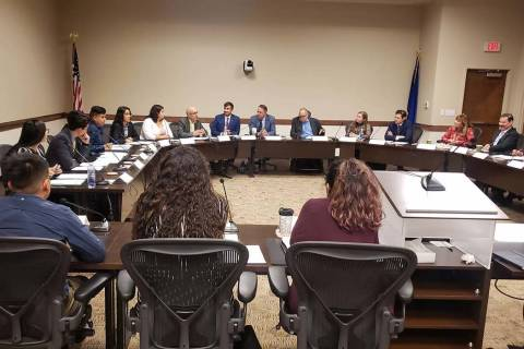 Undocumented students and advocates met with Nevada System of Higher Education administrators t ...