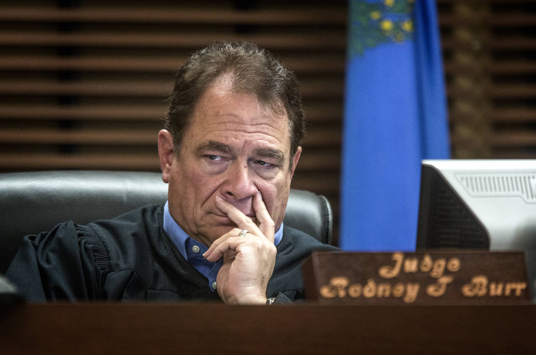 Then-Henderson Justice of the Peace Rodney Burr on Nov. 25, 2013. He is now a Henderson municip ...