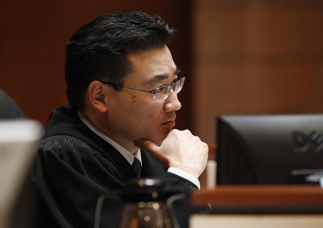 North Las Vegas Justice of the Peace Kalani Hoo presides in court on Feb. 25, 2014. (John Loche ...