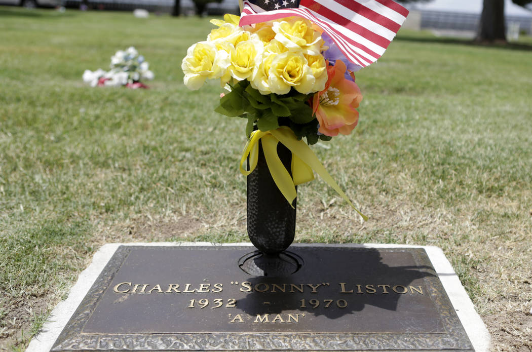 """Charles """"Sonny"""" Liston's gravesite at Davis Memorial Park at 6200 Eastern Ave., is shown on Thu ..."""