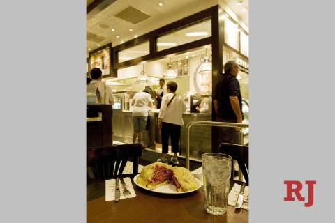 The reuben is seen at the Carnegie Deli in the Mirage in this file photo. MGM Resorts Internati ...