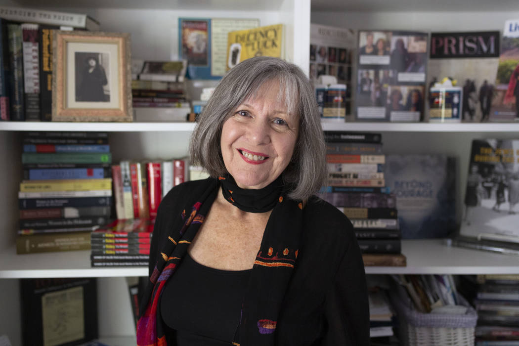 Author Joanne Gilbert in her Las Vegas home on Thursday, Oct. 31, 2019. (Elizabeth Page Brumley ...