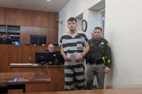 Wilber Ernesto Martinez-Guzman, 19, from El Salvador, was arraigned in front of Judge Tom Armst ...