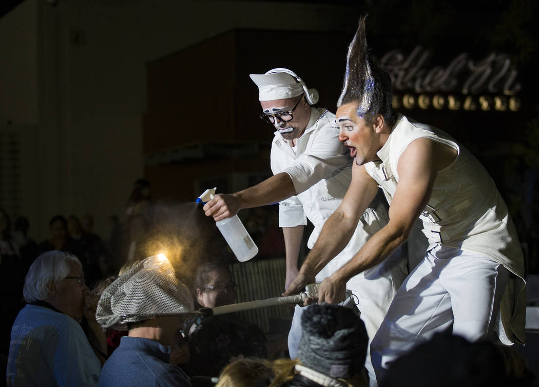 Performers from the Celesta show engage with the crowd at the 26th Annual Ethel M Chocolates Ca ...
