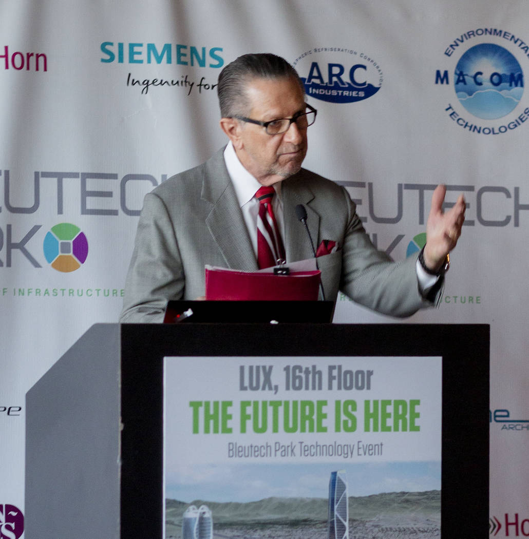 Owner of Letizia Agency Tom Letizia gives an overview of for Bleutech Park Las Vegas, the propo ...