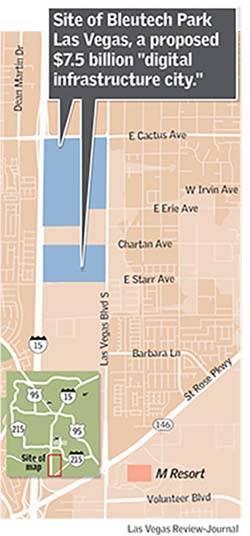 Bleutech Park Las Vegas map