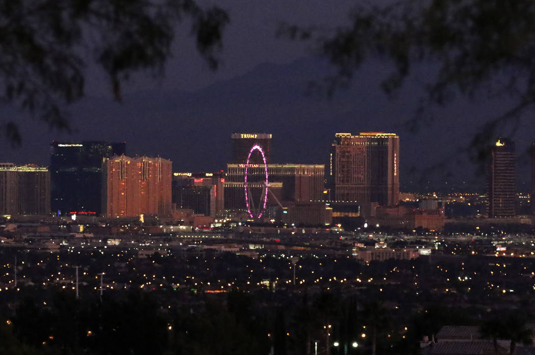 Sunny weather with high temperatures 8 to 10 degrees above normal is forecast for the Las Vegas ...