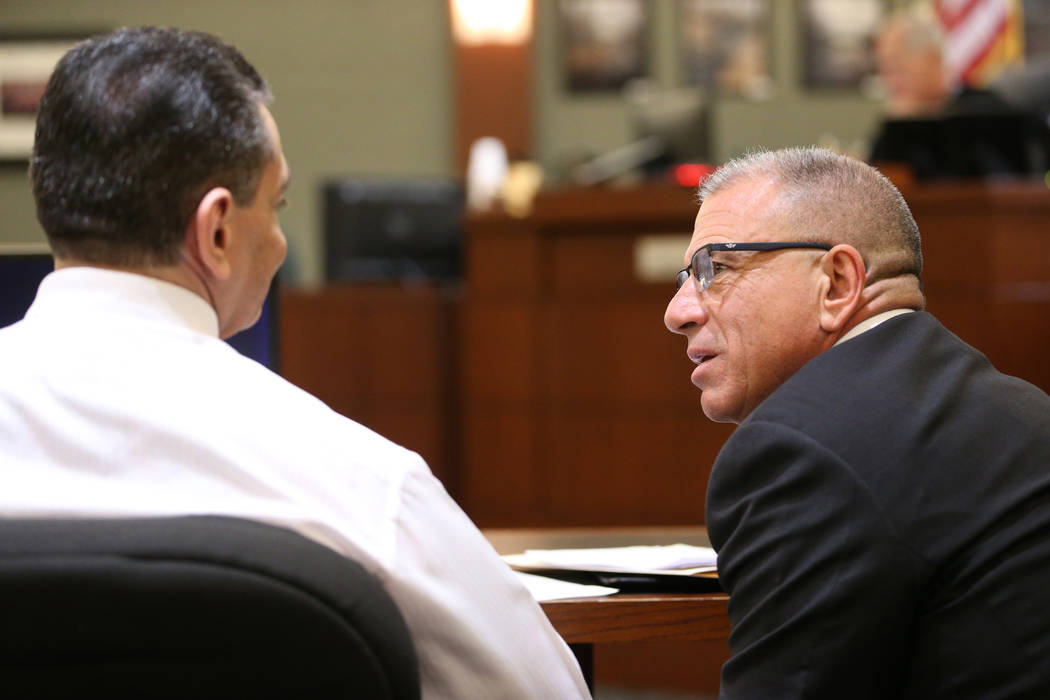 Manuel Mata, left, who is accused of killing Maria Flores and her 17-year-old daughter, Elizabe ...