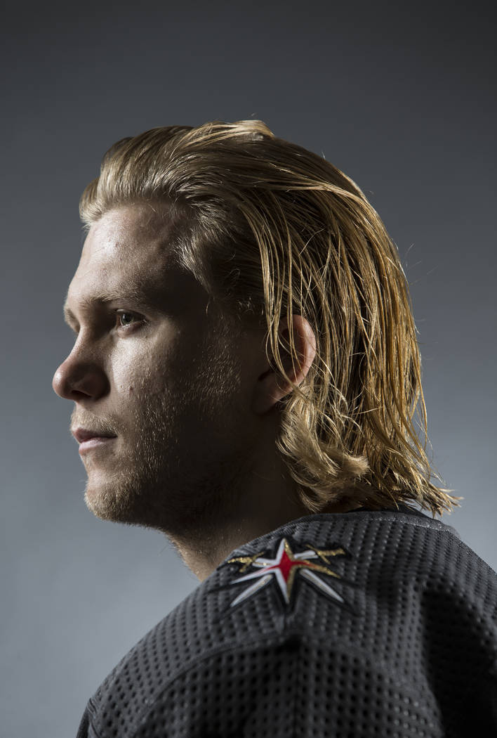 Golden Knights center William Karlsson (71) during media day at City National Arena on Thursday ...