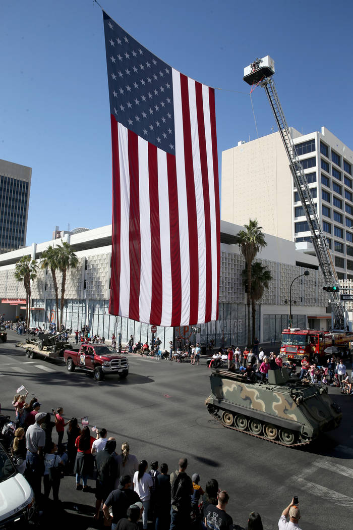 Veterans Day Parade in downtown Las Vegas Monday, Nov. 11, 2019. (K.M. Cannon/Las Vegas Review- ...