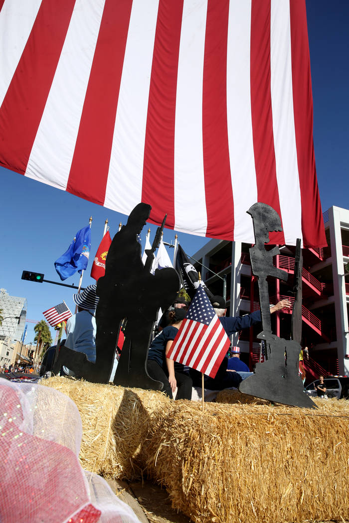 The Metropolitan Police Department Explorers in the Veterans Day Parade in downtown Las Vegas M ...