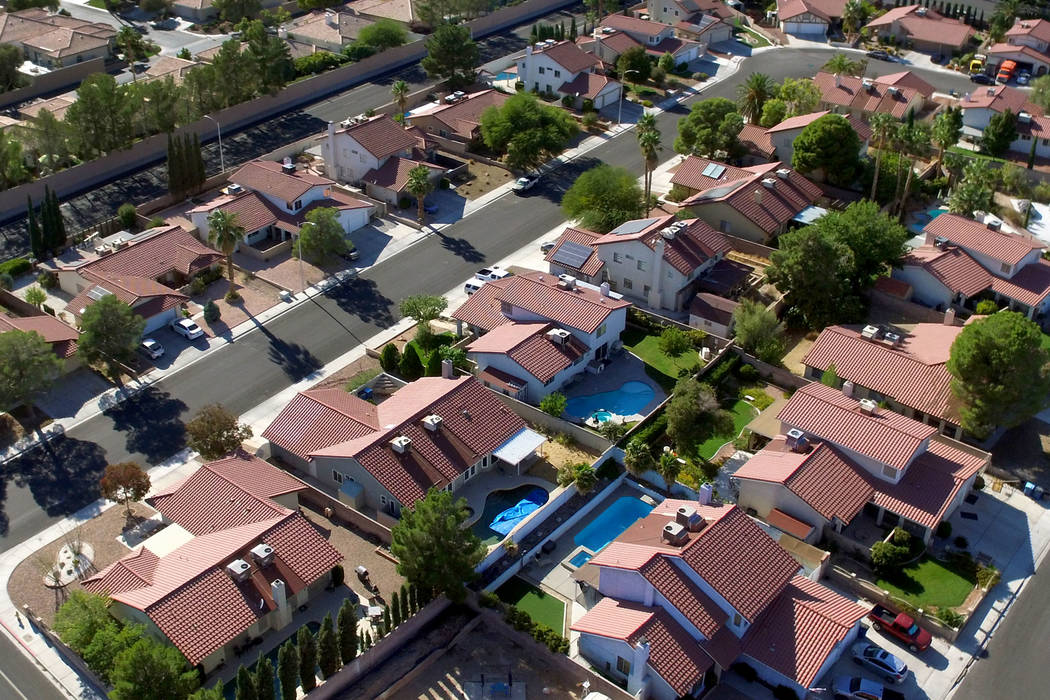 In this Oct. 11, 2019, file photo, single family houses are seen in Summerlin. (Bizuayehu Tesfa ...