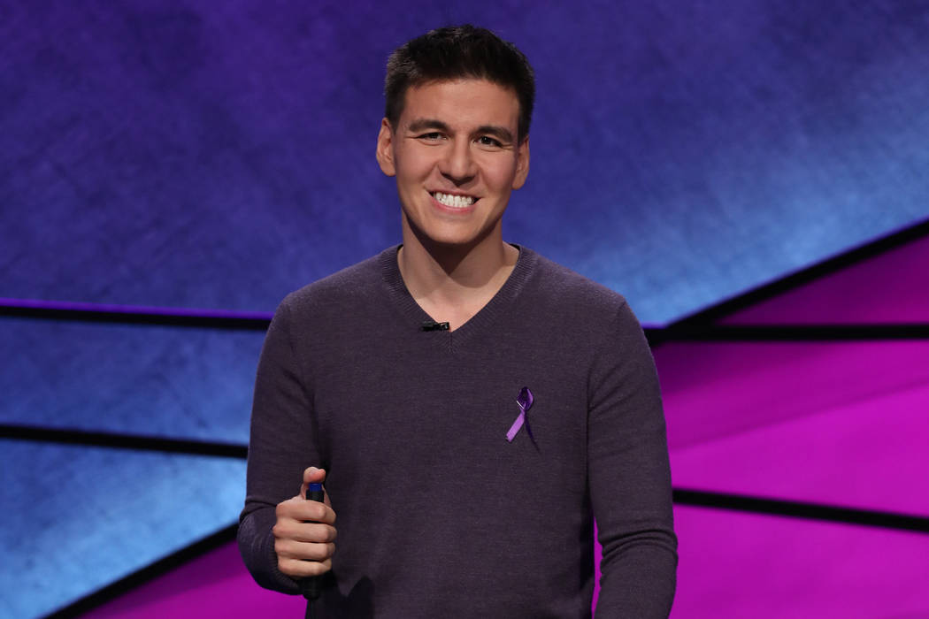 "James Holzhauer competes in the ""Jeopardy!"" Tournament of Champions. (Jeopardy Produc ..."