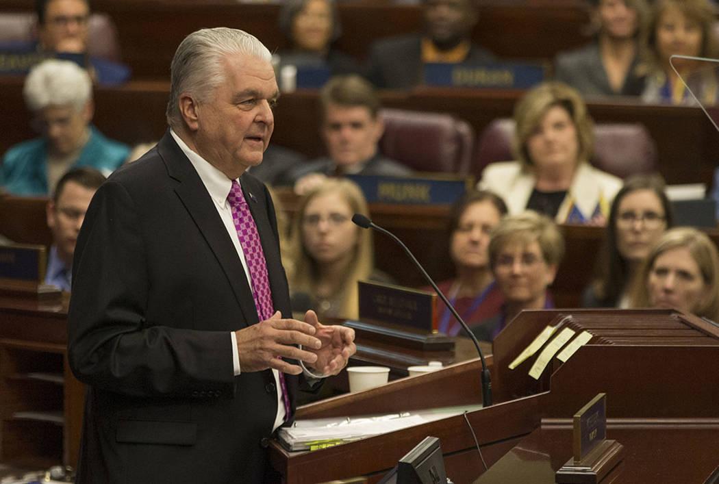 Nevada Governor Steve Sisolak. (AP Photo/Tom R. Smedes)