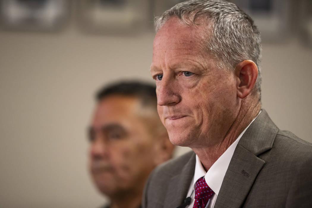 Kleberg County Sheriff Richard Kirkpatrick speaks during a news conference in Corpus Christi, T ...