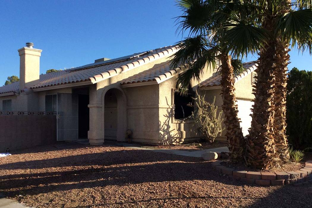 Las Vegas firefighters say careless smoking was to blame for a house fire at 7136 Junction Vill ...