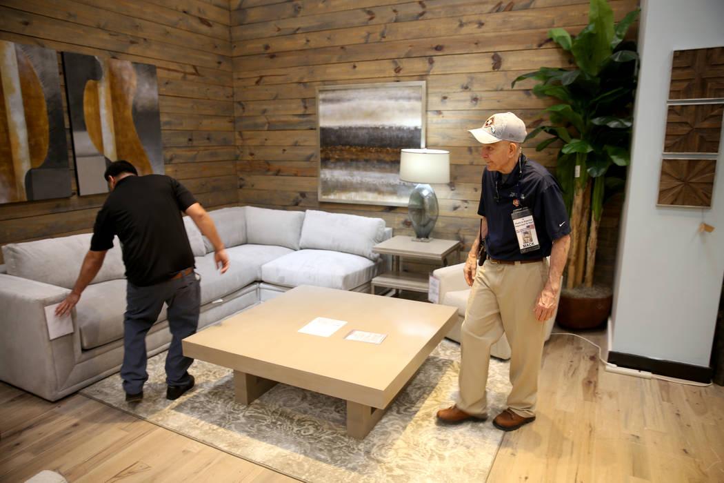 "Houston furniture store owner Jim ""Mattress Mack"" McIngvale, 68, directs setup of a d ..."