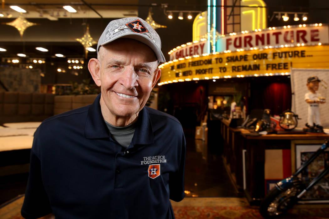 """Houston furniture store owner Jim """"Mattress Mack"""" McIngvale, 68, at his main store Tu ..."""
