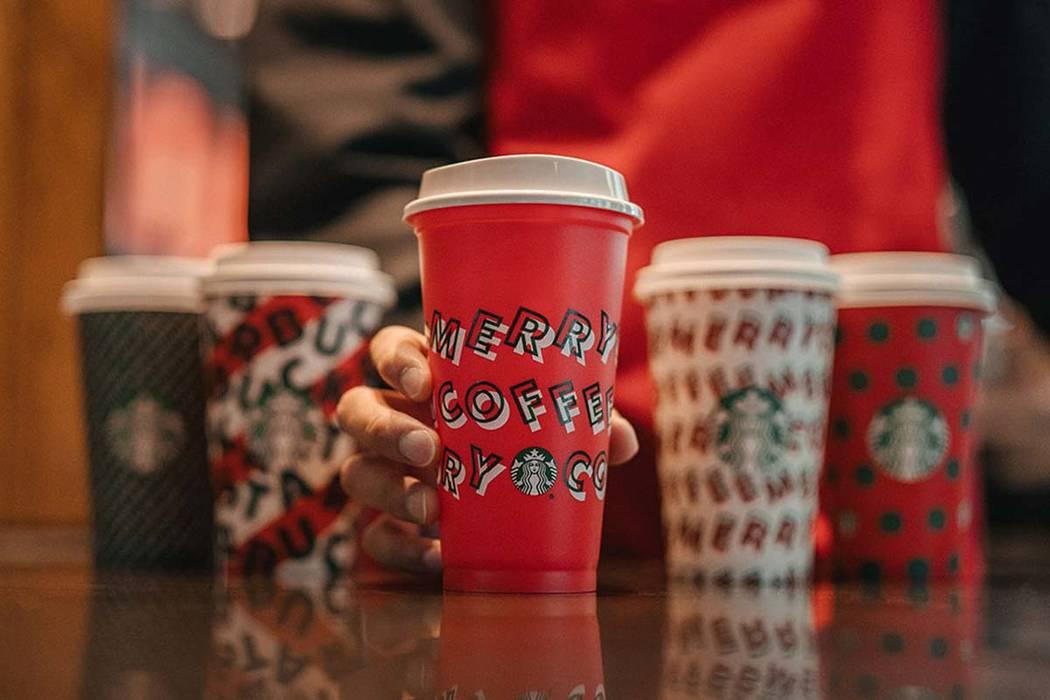 The popular reusable Starbucks holiday drink cups go on sale Thursday, Nov. 7, 2019. Starbucks ...