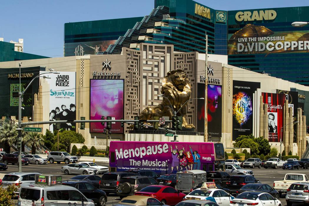 The MGM Grand on the Las Vegas Strip. (L.E. Baskow/Las Vegas Review-Journal) @Left_Eye_Images