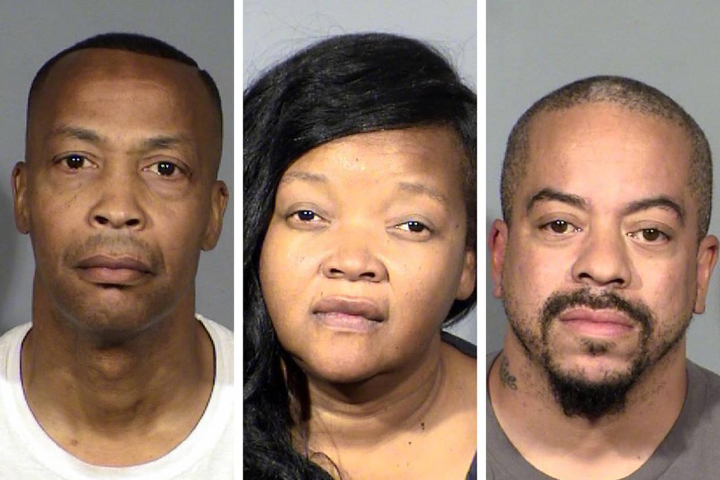 Calvin Leslie (from left), Mary Jefferson and Devon Floyd (Las Vegas Metropolitan Police Depart ...
