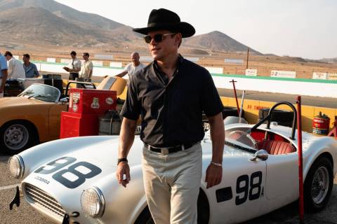 "Matt Damon stars as Carroll Shelby in ""Ford V Ferrari."" (Merrick Morton/2019 Twentieth Century ..."