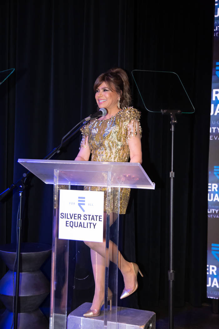 Flamingo Las Vegas headliner Paula Abdul is shown at the inaugural Silver State Equality Nevada ...