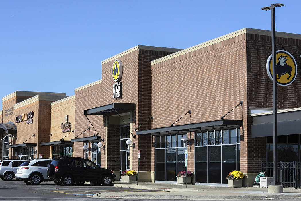 FILE--This photo shows the Buffalo Wild Wings restaurant in Naperville, a suburb of Chicago on ...