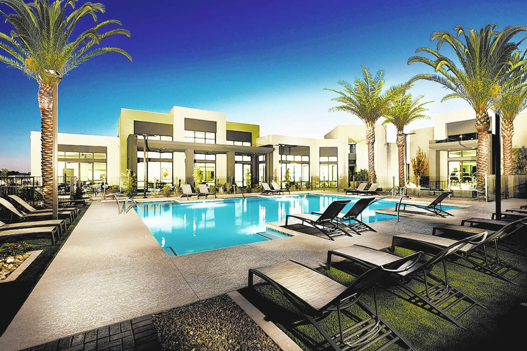 William Lyon Homes Summerlin Affinity by William Lyon Homes has its own clubhouse and pool.
