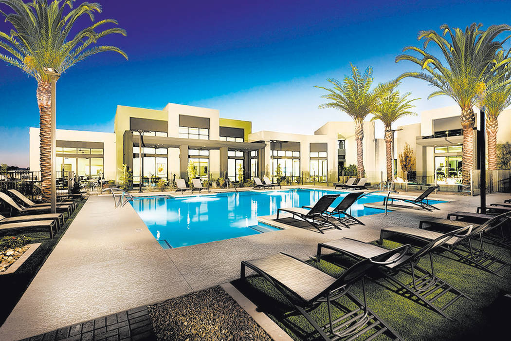Summerlin Affinity by William Lyon Homes has its own clubhouse and pool. (William Lyon Homes)