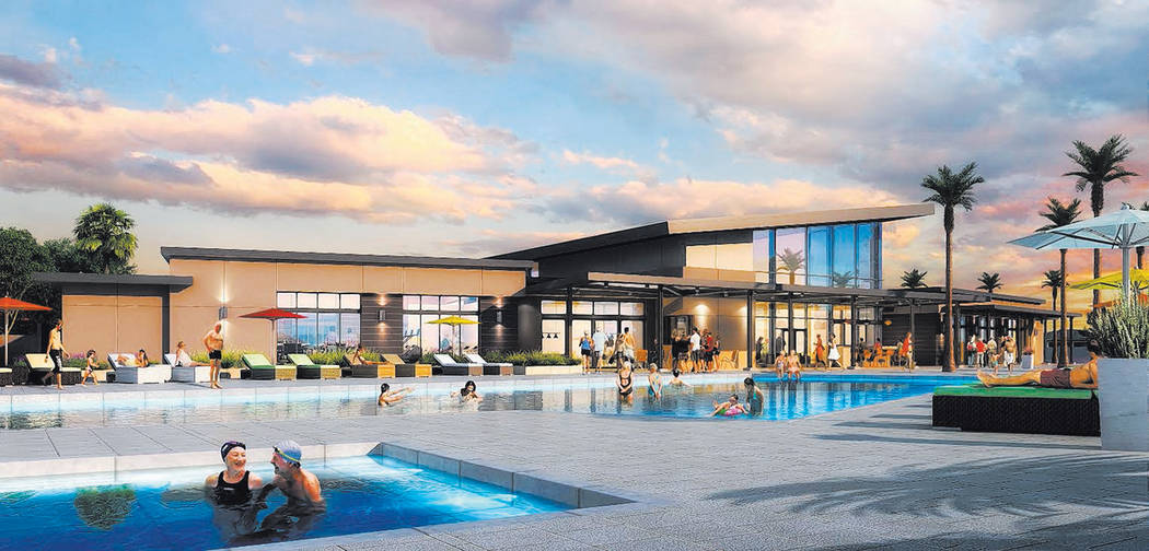 Artist rendering of the Ovation recreation center for a William Lyon Homes' age-qualified commu ...