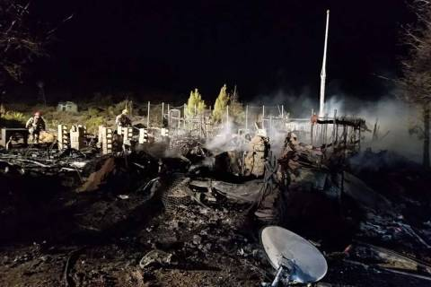 A fire shortly before 8 p.m. Thursday, Nov. 7, 2019, destroyed a home at at 201 Griffen Park in ...