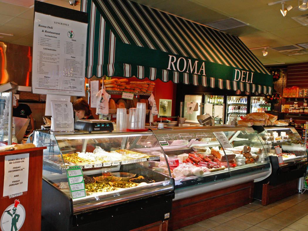 Roma Deli II & Wine Shop at 8524 W Sahara Ave in Las Vegas, Nevada. (Las Vegas Review-Journal File)