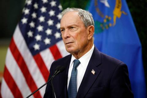 In a Feb. 26, 2019, file photo, former New York City Mayor Michael Bloomberg speaks at a news c ...