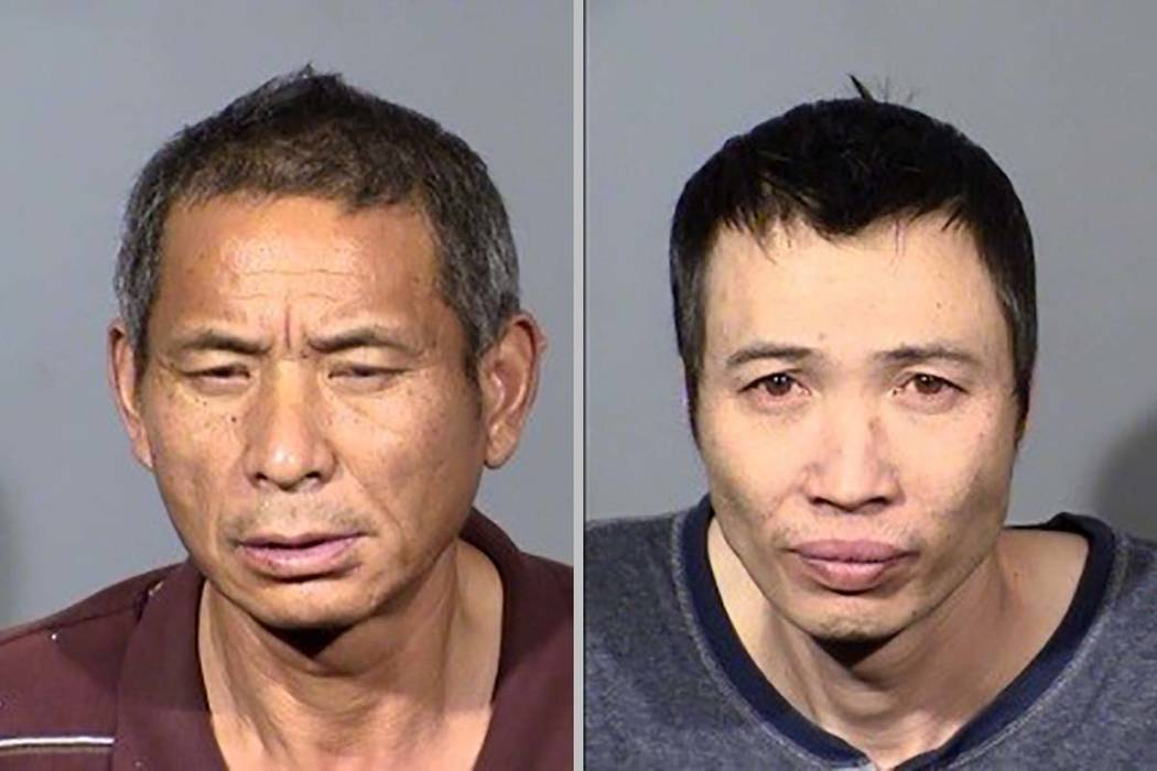 Cheng Zi, left, and Youngjun Tan were arrested by Boulder City police, who found approximately ...