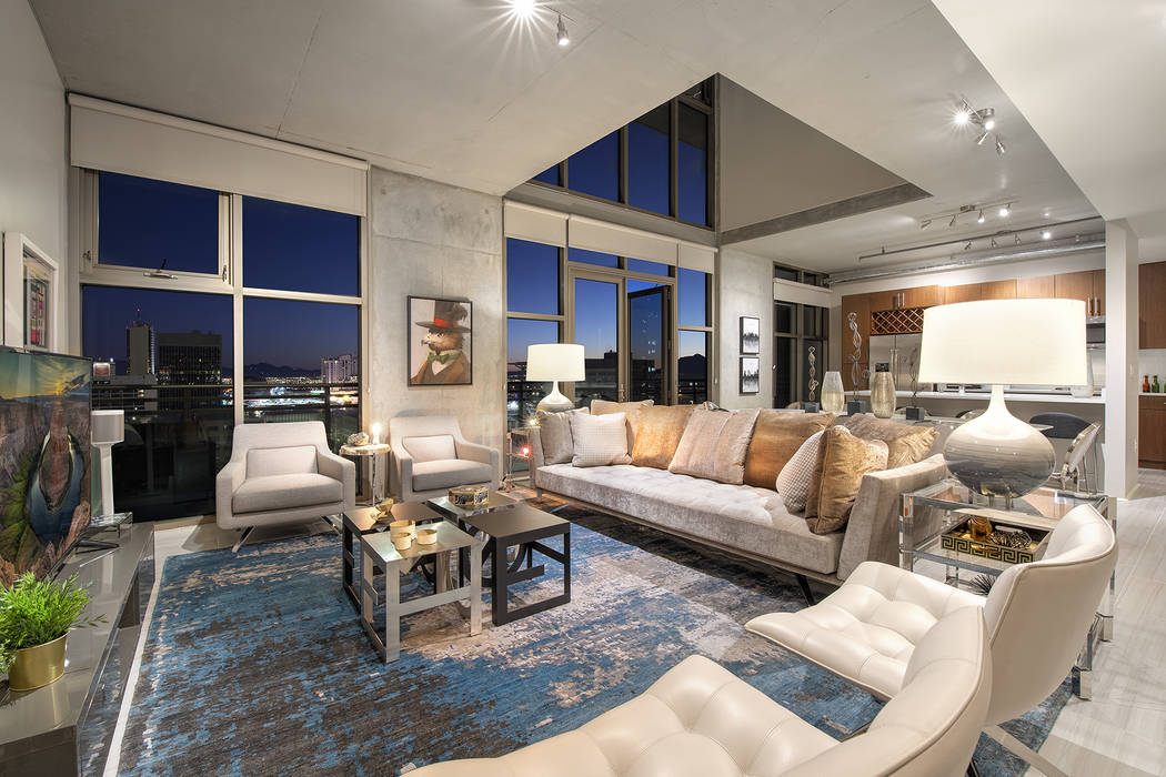 Juhl residence No. 1406 is a two-story model penthouse that measures 1,944 square-feet. (Juhl)