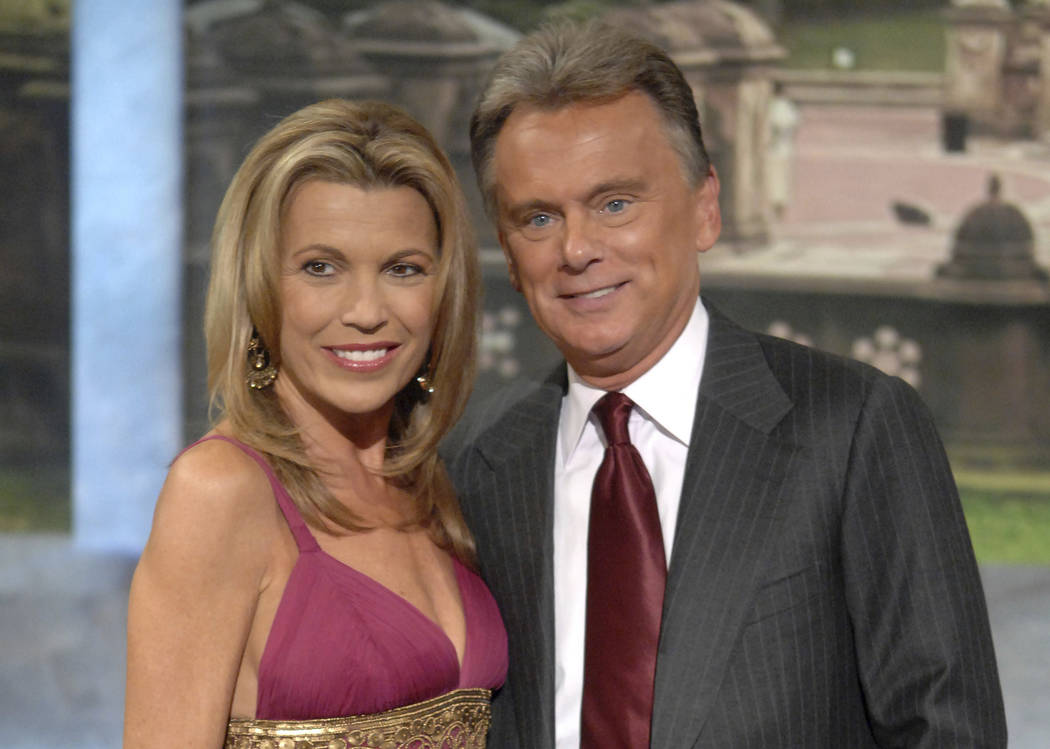 Co-host Vanna White and host Pat Sajak make an appearance at Radio City Music Hall for a taping ...