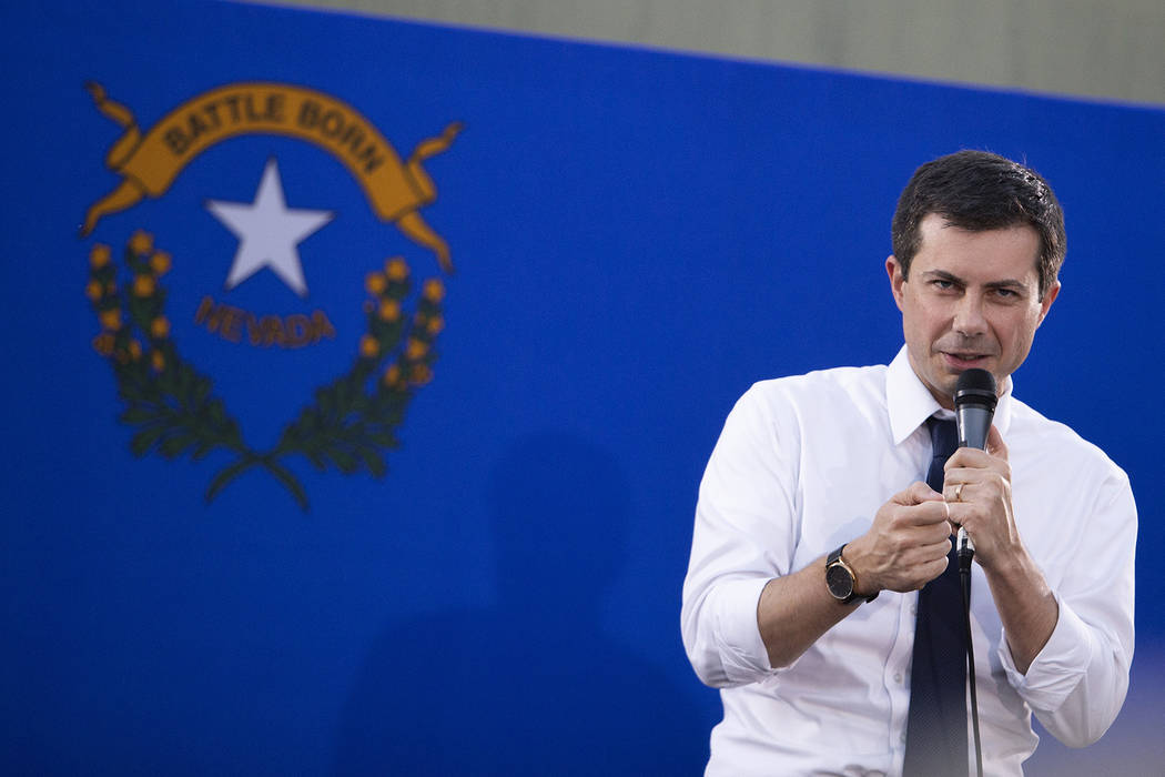 Pete Buttigieg, mayor of South Bend, Indiana and 2020 presidential candidate, takes questions f ...
