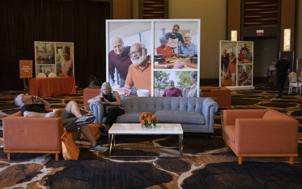 Attendees take a break during the AgeWell Expo on Saturday, Nov. 9, 2019, at Red Rock Resort in ...