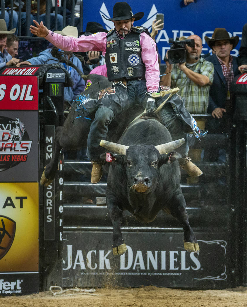 Joao Ricardo Vieira catches lots of air atop of Strange Cargo during the fourth day of the PBR ...