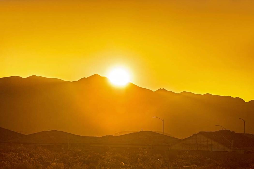 The National Weather Service forecast calls for sunny and warm conditions in the Las Vegas Vall ...