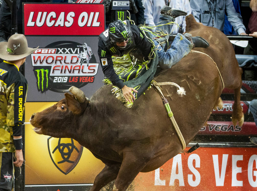 Jose Vitor Leme loses his grip while atop of Lil 2 Train during the last day of the PBR World F ...