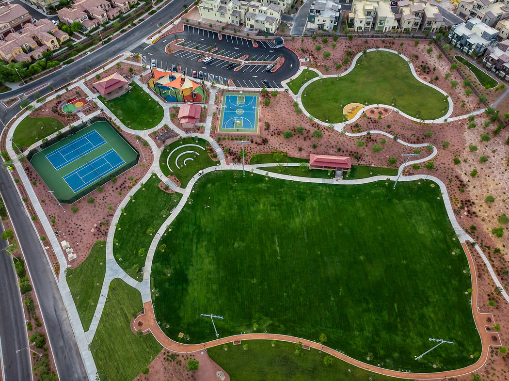 Sagemont Park in Summerlin Centre is the newest major community parks to open in Summerlin. (Su ...