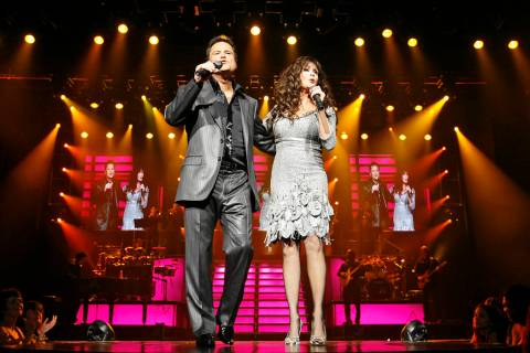 Marie and Donny Osmond perform at the Flamingo Sept. 25, 2008. (Las Vegas Review-Journal file p ...