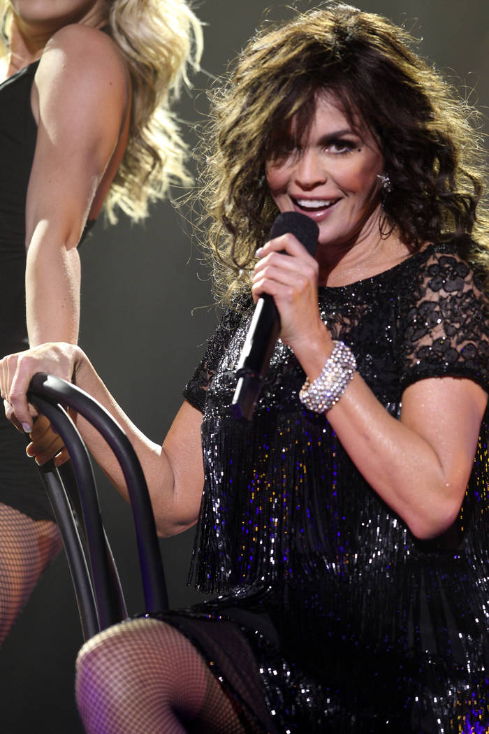 Marie Osmond performs a solo set of Broadway show tunes during the Donny & Marie show at the Fl ...
