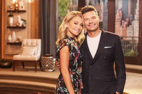 "Kelly Ripa and Ryan Seacrest host ""Live with Kelly and Ryan"" (ABC Entertainment)"