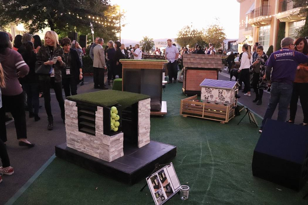 The inaugural Doghouses of Distinction event benefited The Animal Foundation. (Luxus DESIGN BUILD)